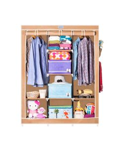 8 Racks Double Hanger Foldable Wardrobe - CbeeSo