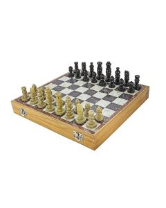 Marble Soapstone Chess Board Set - Chessncrafts
