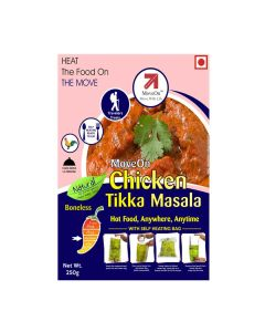 Chicken Tikka Masala (Boneless) with Heater Bag - Non veg (250 gm) - Move On