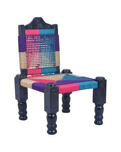 High Wooden Back-Foldable Chair (Multicolor) - IRA