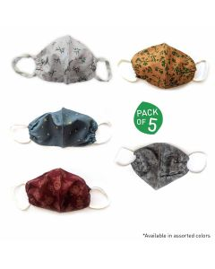 Double Layered Cloth Face Masks (Pack of 5) - Micon Impex