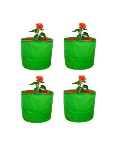 Grow Bags Green 15 x 15 inch (Pack of 4) - Cocogarden