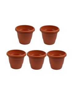 Plastic 12 inch Pots For Plants (Pack of 5) - Cocogarden