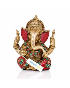 Lord Ganesha Brass Statue - Collectible India