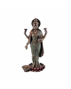 Hindu Goddess Maa Laxmi Idol Bronze Statue - Collectible India
