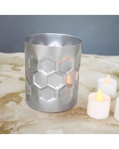 Honeycomb Planter Silver Small - Color Palatte