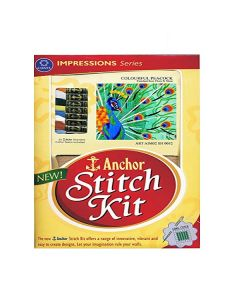 Colourful Peacock - Anchor Stitch Kit