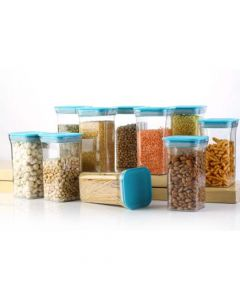 Unbreakable Airtight Transparent Plastic Container (1.1 Litre) - Home Turf