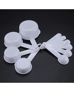 White 10 Pcs Measuring Spoons