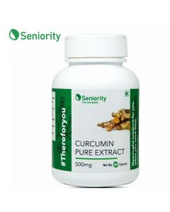 Curcumin Pure Extract 500 mg (60 Capsules) - Seniority