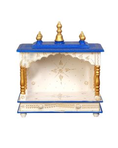 Wooden Temple For Home (20 x 11 x 24 Inch - White) - Kamdhenu Art And Craft