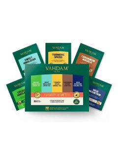 Detox Tea Assortment Tea (4 x 5 Variants- 20 Bags x 2 g each) - Vahdam Teas