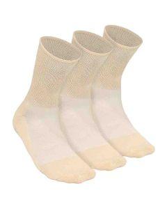 Diabetic And Arthritis Care Bamboo Socks Unisex (Beige) - Heelium