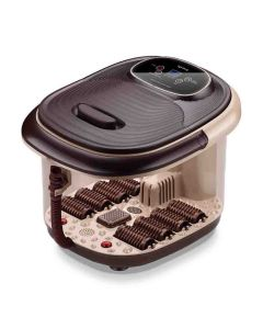 Electric Foot Spa Massager Machine with 8 Rollers (Brown) - Lifelong