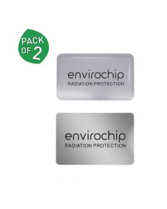 Immunity Booster Radiation Protection Chip for Mobile & Wi-Fi Router (Pack of 2 – Silver) - Envirochip