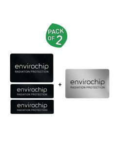 Immunity Booster Radiation Protection Chip for Laptop & Wi-Fi Router (Pack of 2) - Envirochip