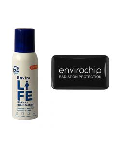 Combo of Desk Pack Gadget Disinfectant & Immunity Booster Radiation Protection Chip - Envirolife & Envirochip