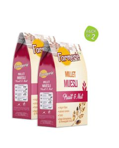 Millet Muesli Fruit and Nut Breakfast Cereal (2 x 400 gm) - Farmerie