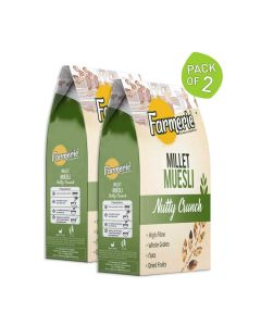 Millet Muesli Nutty Breakfast Cereal (2 x 400 gm) - Farmerie