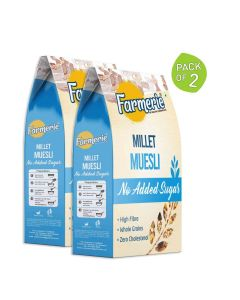 Multi Millet Muesli (No Added Sugar) Breakfast Cereal (2 x 400 gm) - Farmerie