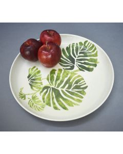 Green Leaf Plate cum Platter - Color Palatte