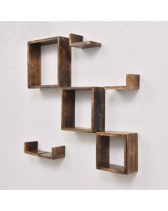 Wooden Wall Shelves (Set of 7) - Woodenclave