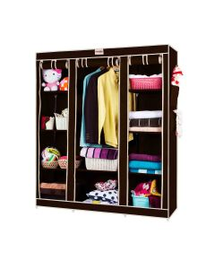Foldable Wardrobe 3 Door 10 Shelves 1 Hanger - Foldon