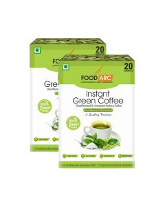 Instant Green Coffee Sachets - Coffee Powder (Pack Of 2 - 20 Sachets each) - Food ARC