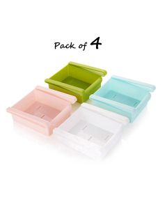 Fridge Storage Organiser - Pack of 4 (Assorted Colors)