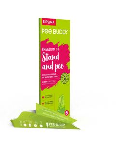 Stand & Pee Disposable Urination device, Helps Pregnancy & road trips (5 Pcs) - Peebuddy
