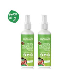 Natural Anti Mosquito Spray (2 Pack - 100ml Each) - BodyGuard
