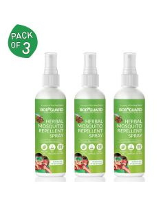Natural Anti Mosquito Spray (3 Pack - 100ml Each) - BodyGuard