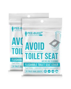 Flushable Toilet Seat Cover (20 Pieces) - PeeBuddy