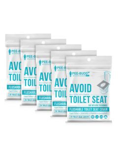 Flushable Toilet Seat Cover (20 Pieces) Pack of 5 - PeeBuddy