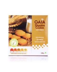 Digestive Cookies Unflavoured 200 gm (Pack of 10) - GAIA