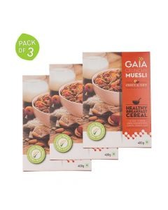 Muesli Fruit and Nut 400 gm (Pack of 3) - GAIA