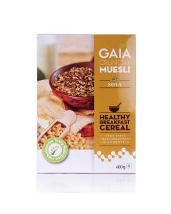 Crunchy Muesli Soya 400 gm (Pack of 2) - GAIA