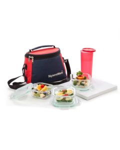 Glass Lunch Box Set with Tumbler (Pack of 3) - Signoraware