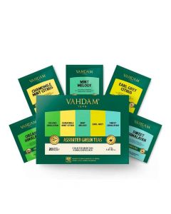 Green Tea Assortment Tea (4 x 5 Variants - 20 Bags x 2 g each) - Vahdam Teas