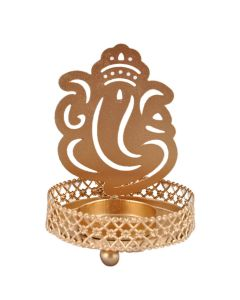 Traditional Tea Light Holder With Tea Candle (Ganesh) - Hashcart