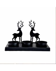 Traditional Tea Light Holder With Tea Candle (Deer Design) - Hashcart