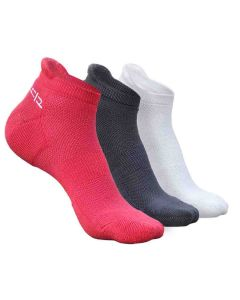 3 Pairs of Ankle Length Bamboo Fibre Socks for Women (Free Size UK3 - UK7) - Heelium