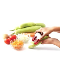 Compact Fruit-Vegetable Peeler and Shredder with Multipurpose Blades - Homecare