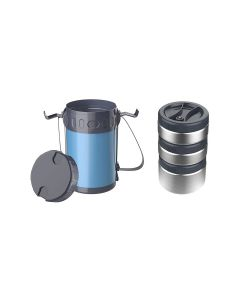 Venus 1.5 L Vacuum Insulated Stainless Steel Lunch Box (Blue) - Homecare