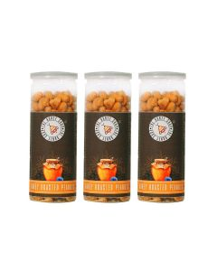 Honey Roasted Peanuts - Tossed with Salt and Natural Honey (450 gm - Pack of 3) - THE HONEY SHOP