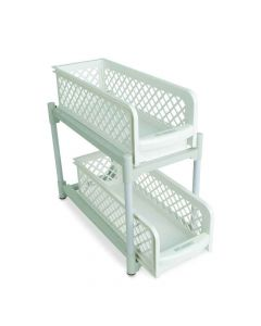 Two Tier Portable Sliding Basket Drawers - House of Quirk