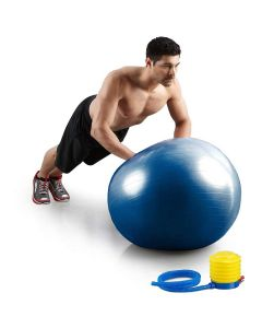 Gym Exercise Ball With Pump (Blue) - House of Quirk