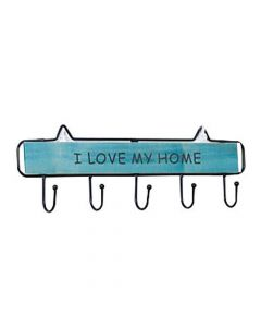 Rustic Wooden Metal Wall Hook (5 Hooks) - House of Quirk