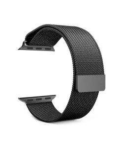 Stainless Steel Strap for 42 mm iWatch (Black) - House Of Quirk