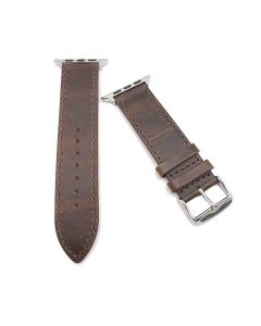 Vintage Leather iWatch Strap 42 mm Replacement Band (Brown) - House Of Quirk
